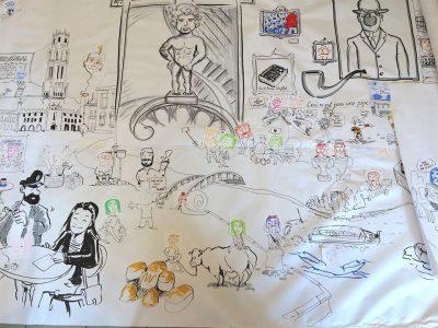 Comic zeichnen in Belgien 2 © agentur better